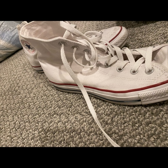 High top white converse worn once